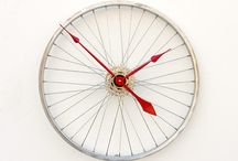 Wheel clocks / Clocks made out of old car wheels and motorbike wheels made to your own colors and spec