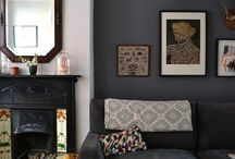 Dark blue black wall