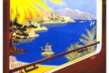 Les célèbres affiches Côte d'Azur