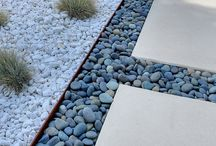 Path slabs and pebbles