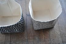 fabric boxes / by Rebekah Field