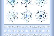 Снежинки вышивка крестиком