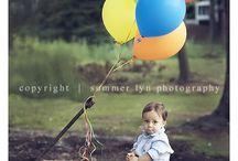 Little boy poses