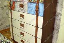 Комоды-чемоданы, идеи для декора