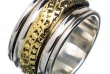 Spinner Rings / All the pieces are crafted by our workers.Each jewelry is made and completed by hand.