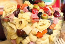 Salads / I love salads, especially in the summer.  Pasta salads, panzanella salads, spinach salads, any kind of salad!