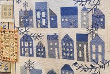 Quilts blue & white
