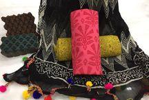 Bagru Hand Block Print Cotton Suits with Pom Pom Chiffon Dupatta / Get Best Deals from Aarav Febricator !!! Get Bagru Hand Block Print Cotton Suits with Pom Pom Chiffon Dupatta on Just @850+Shipping Order Now : +91-9352204878
