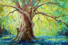 Oak tree painting