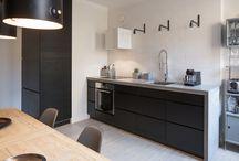 Keittiöremontti - brief / moodboard / Evan ja Mikon ajatuksia uudesta keittiöstä. Kuvien kommenteissa infoa mistä pidämme