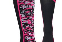 Breast Cancer Awareness / Pink Ribbon Socks for Breast Cancer Awareness, Dig Pink, Pink out events, and more.  Great for teams for volleyball, lacrosse, basketball, football, softball, soccer and more...