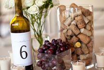 Decor: Vine bottles