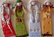 Куколки из глины(сделать подарки)