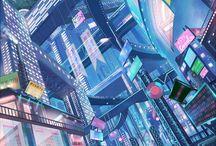 미래도시 배경