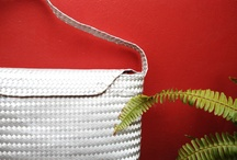 mexican handwoven bags / I've recently begun to work on a collective project with Rodolfo, a local artist from Oaxaca, who weaves traditional bags and baskets for tortillas. Together we have created a line of laptop cases and yoga mats. While they were made with palm leaves we combine the original technique with synthetic materials for better durability and a variety of colors.