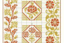 cross stitch double colour