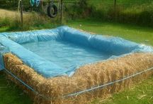 Summer Fun for Everyone / Use plastic sheeting for all sorts of fun activities this summer! Slip n slides, mud-runs, pools, and more!