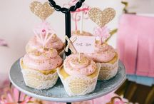 Sarah's Bridal Shower / Bridal shower for Miss Lennard  Theme ideas: Glitter Glam Glitz and Glamour  Glitter and Gold