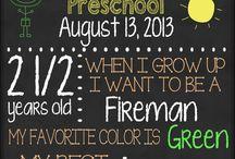 Chalk boards / Teksten op schoolborden