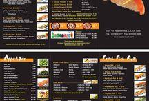 japanese restaurant menu