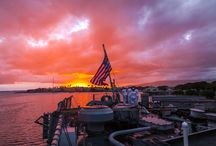 2014 Veterans Day Sunset Ceremony / America's Veterans Day ceremonies came to a close in Pearl Harbor on board the nation's last battleship, the retired USS Missouri, in a moving ceremony that concluded as the twilight of day turned into dusk. PC: Studio 3
