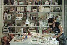 Creative Spaces / Creative Space Inspiration / Craft Room Style