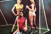 Playboy girls pose for 2014 World Cup