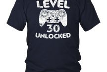 Level 30 Unlocked T-Shirt Video Gamer 30th Birthday Gift