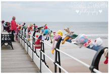 Saltburn Knitters / Secret group installing knitted characters on a theme from time to time.
