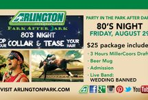 Miller Lite Party in the Park After Dark - 80's Night / Pop your collar and tease your hair and come throwback with us at Party in the Park After Dark 80's Night! Boogie down with us with live music by the Wedding Banned on August 29. / by Arlington International Racecourse