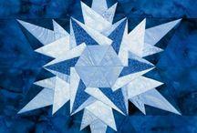 patchwork bloky hvězdy celé quilty / návody na ušití bloku hvězdy různými technikami