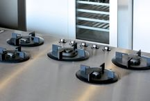 ABK i-Cooking / The i-Cooking concept distinguishes itself from common hobs by the way the worktop material remains visible between the gas burners. i-Cooking induction is a unique concept for induction cooking, where the separate induction fields can be freely placed to your own liking and in any worktop material.
