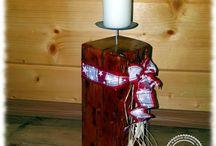 Kerzenständer Altholz