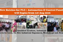 New batches for PLC / Automation & Control Panel will begins from 1st Aug 2016