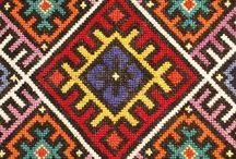 alfombras y cojines bordado