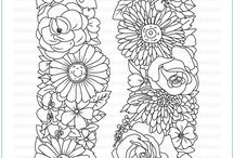 Floral Trimmings Stamp Set