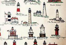 Lighthouses and seas