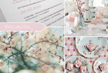 Kirschblüten als Hochzeitskonzept - wunderschöne Frühlingsboten / Der Winter wirft seine Schatten hinter sich und die Kirschblüten kündigen den Frühling an. In weiß oder rose, klein und zart und voller Romantik. Perfekt für eine Hochzeit im Frühling.