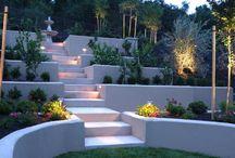 Garden on a hill / Landscaping a hilly garden