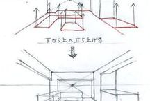 Kitchen perspective drawings