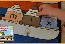 CVC Words / Activities and resources for teaching CVC spelling patterns (consonant-vowel-consonant) to children. These resources include many centers and one-time prep ideas for prek, kindergarten, first grade, and second grade classrooms.