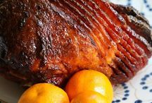 Easter ham and sides