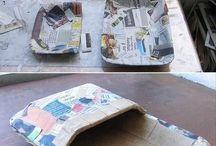 reciclados con papel