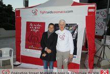 """Street Marketing """"Test In The City"""", 28/11/2013 / Opération de dépistage VIH/Sida avec la fondation crée par la Princesse Stéphanie de Monaco """"Fight Aids Monaco""""."""
