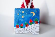 xmas canvas paint / xmas canvas painting ideas
