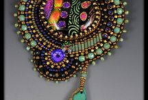 Jewelry: Beaded / Inspiration for textile jewelry
