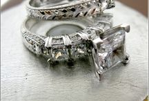 Engagement Rings and Wedding Bands Hand Engraved solid 14k and Platinum @ Chicjewelry.com / Engravings made by hand - every ring has unique and one of a kind