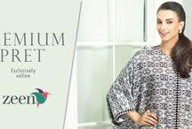 Zeen | Premium Pret | Silk Tops / A New Range of Premium Pret Wear in form of Silk Tops.