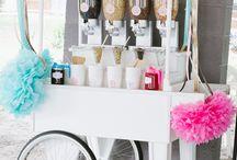 Ice Cream Party / Idee & tutorial per dare una festa a tema gelato.