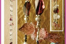 Crystal Light/Sun Catchers / Crystal and silver light or sun catchers can be used for curtain tie-backs and ceiling light or fan pull cords, you may even wear them!